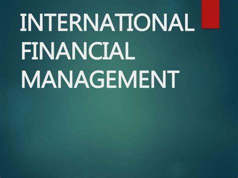 International Financial Management Final