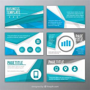 buy professional powerpoint templates - abstract blue presentation template vector free download