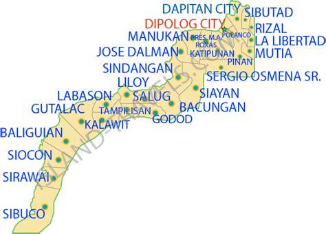 zamboanga del norte map philippines philippines travel