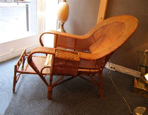 chaise longue rotin ancienne beautiful 1930 39 s rattan chaise longue at 1stdibs