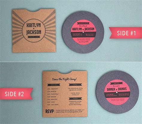 totally  totally rockin diy vinyl record wedding