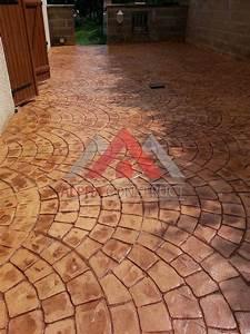 beton imprime revetement pour exterieur prix m2 y facon With terrasse beton imprime prix m2