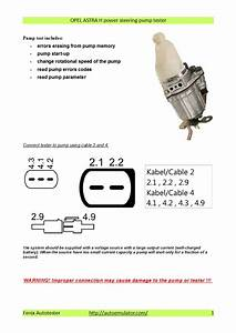 Astra Electric Power Steering Pump Wiring Diagram