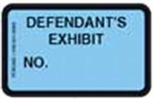 pengad court reporter supplies legal supplies court With defendant s exhibit stickers