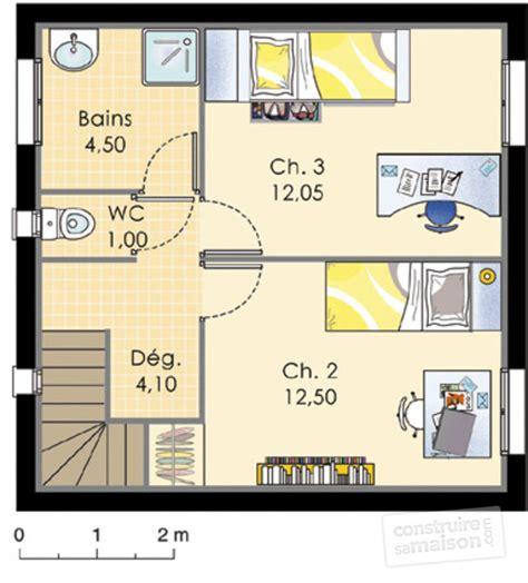 plan maison 1 騁age 3 chambres plan maison a etage 90 m2 maison moderne