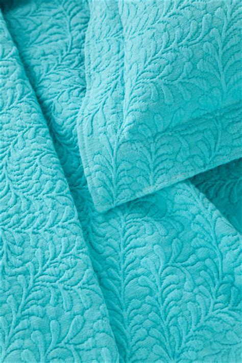 Aqua Coverlet by Scramble Aqua Matelasse Coverlet By Pine Cone Hill