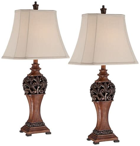 bronze set traditional table lamps lighting led decor