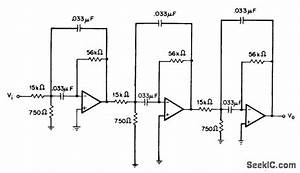 75o Hz Sixth Order Bandpass - Filter Circuit