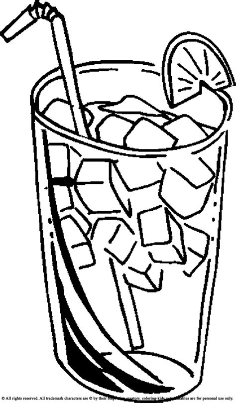 Coloring Juice by Cold Juice Drinks Coloring Pages