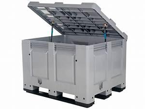 Kunstoffbox Mit Deckel : big box kunststoff palettenbox 1200 x 1000 mm mit deckel auf 3 kufen transoplast gmbh ~ Eleganceandgraceweddings.com Haus und Dekorationen