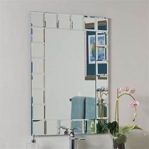 Shop decor wonderland montreal 236 in x 315 in clear for Kitchen cabinets lowes with mirrored frame wall art