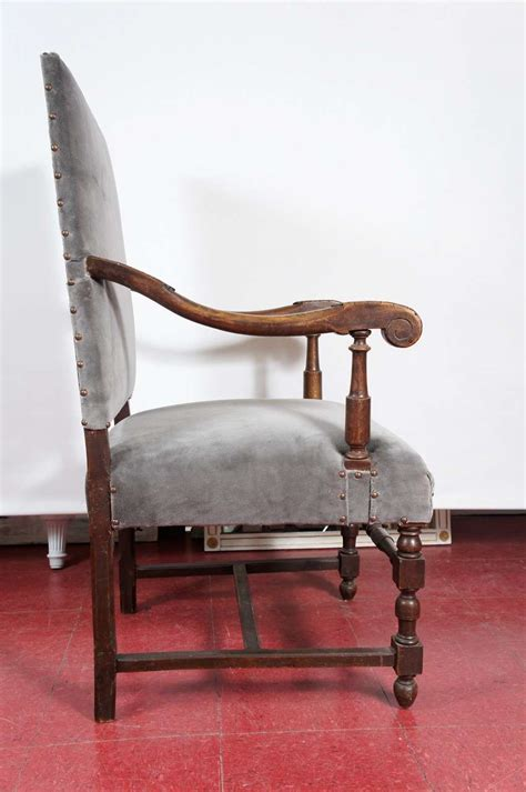 louis xiv style throne arm chair for sale at 1stdibs