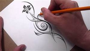 Drawing a Tribal Flower and Stem With a Little Shading ...