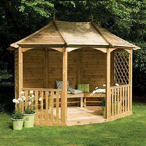 "11'9"" x 9'3"" FT (3 6 x 2 8m) Wooden Gazebo Pavilion With"