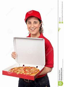 Pizza delivery woman stock image. Image of feed, carry ...