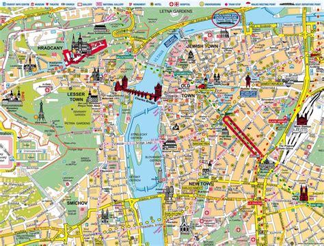 map  prague places  travel pinterest prague