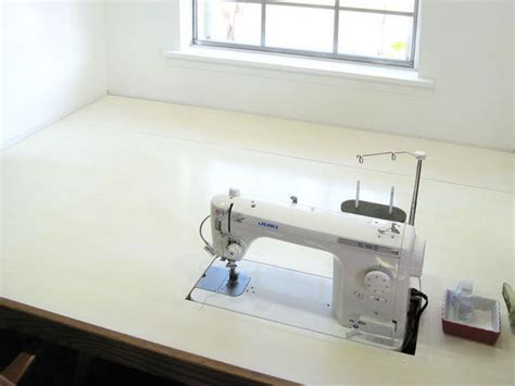 sewing machine tables for quilting large clean table with a great machine with a large throat