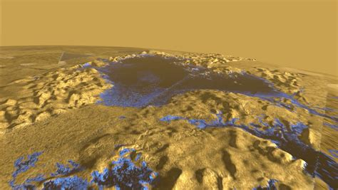 Titan S by Surface Of Titan Sea Is Mirror Smooth Scientists Find
