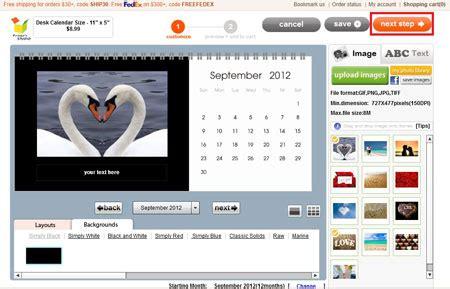 print your own desk calendar make your own desk calendar tutorials
