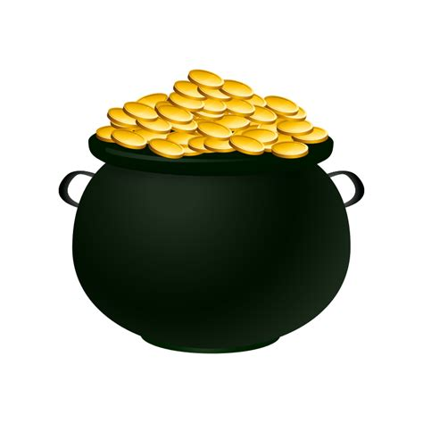 pot of gold line free clipart 1001freedownloads