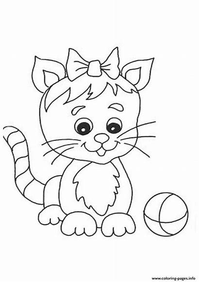 Cat Coloring Pages 8c46 Ribbon Printable Info