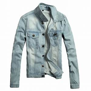 New Winter Fashion Men Denim Jacket Coat Men Solid Slim Fit Men Jeans Jacket Casual Leisure ...