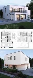 Modulares Bauen Preise : moderne bauhaus stadtvilla grundriss mit flachdach ~ Watch28wear.com Haus und Dekorationen