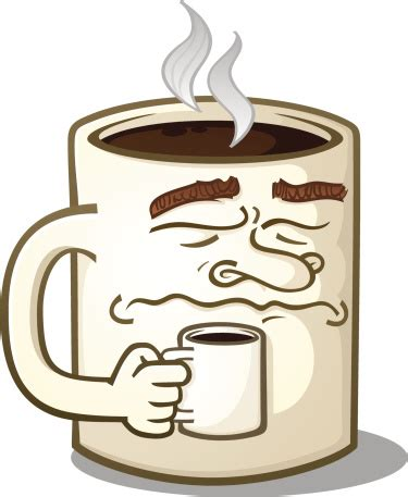 They will instantly affix to smooth surfaces & can be removed without leaving any residue. Grumpy Coffee Mug Character Drinking A Hot Beverage Stock Illustration - Download Image Now - iStock
