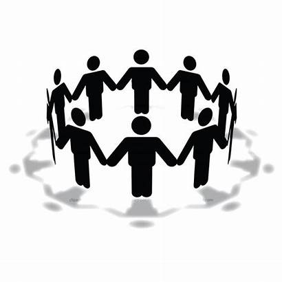 Clip Clipart Circle Hands Holding Cliparts Meeting