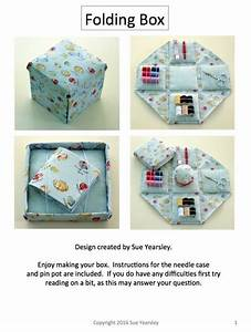 Etui Folding Sewing Box Hard Copy Instructions