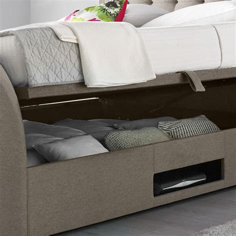 Ottoman Tv Bed by Metro Oatmeal Fabric Ottoman Tv Bed