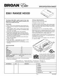 Broan Elite Hood Light Bulb Broan E66130ss Elite 30 Inch Under Cabinet Range Hood With