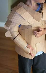 fantastical cardboard costume diy turns boxes into knight With cardboard armour template