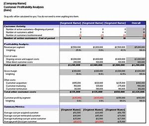 customer profitability analysis template With client analysis template