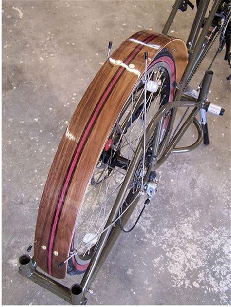 custom wood bike fenders racks  woodys custom