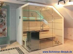 Dampfbad Selber Bauen : dachschr ge sauna schreiner straub wellness wohnen ~ Frokenaadalensverden.com Haus und Dekorationen