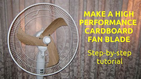 how to make fan work on android make a high performance cardboard fan blade youtube