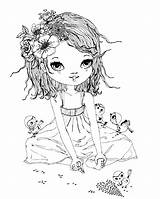 Coloring Pages Printable Digi Rose Lili Desenhos Stamps Para Native American Colouring Drawings Colorir Adult Peace Outline Books Jillian Sheets sketch template