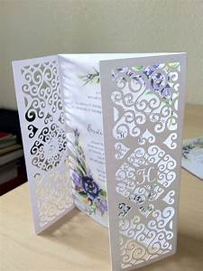 Diy wedding invitation gatefold was designed and cut for Wedding invitations using silhouette cameo