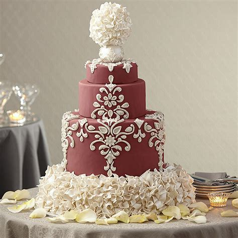 cake wedding wilton marsala