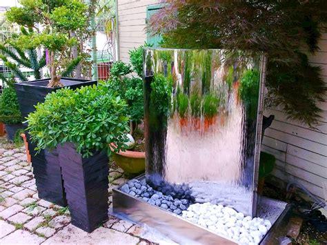 fontaine et mur d eau en inox 120cm brillant marseille aix en provence