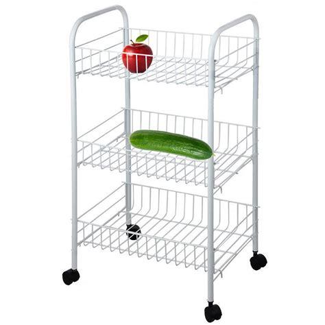 3 Tier Vegetable Trolley Cart Fruit Storage Kitchen Rack