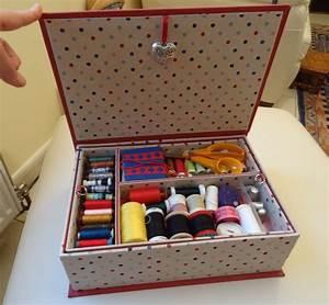 Fabriquer Une Boite En Carton Avec Couvercle : comment fabriquer une boite a couture en carton ~ Melissatoandfro.com Idées de Décoration