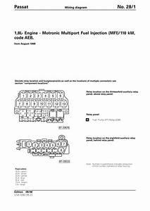 Vw Passat B5  1 8l Engine Aeb Motronic Mfi  Eng