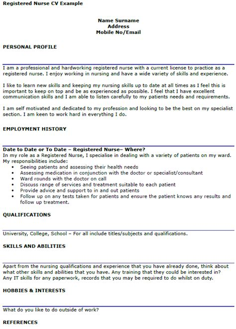 Nursing Cv by How To Write A Nursing Cv Uk Build Your Cv Step