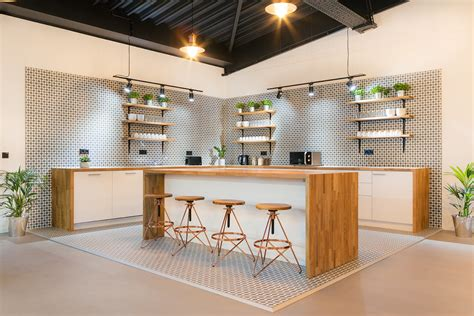 Office Kitchen by Inside Techspace S Sleek New Berlin Coworking Space