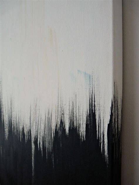 Abstract On Black Canvas by Simple But Striking Black White Diy Abstract Painting