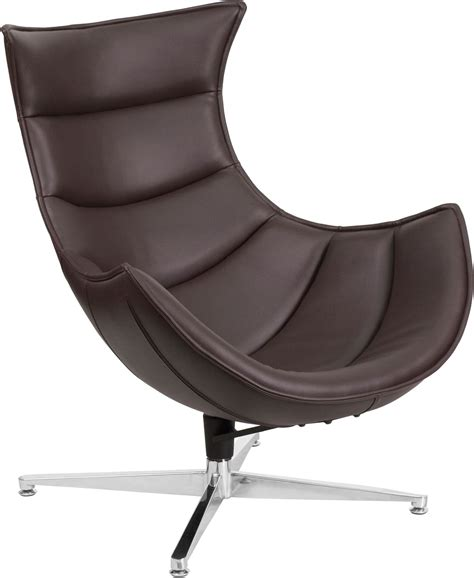 brown leather swivel chair brown leather swivel cocoon chair from renegade coleman 4940