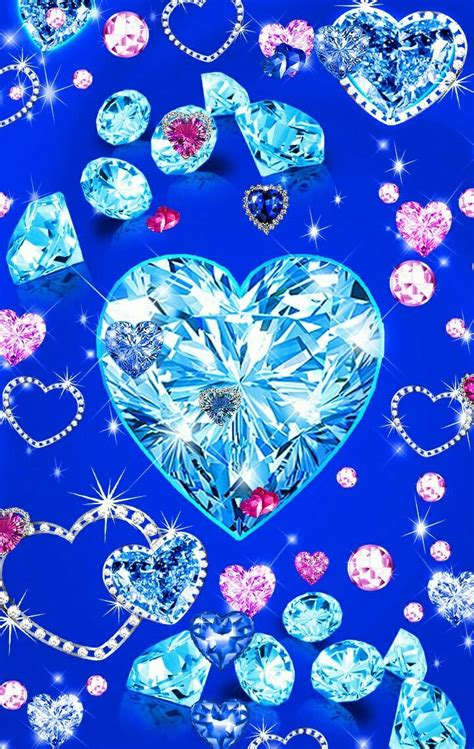 All of these blue background images and vectors have high resolution and can be used as banners, posters or wallpapers. Pin by Kathy💜 Beckwith💕 on Bling Phone in 2019 | Bling wallpaper, Heart wallpaper, Diamond wallpaper