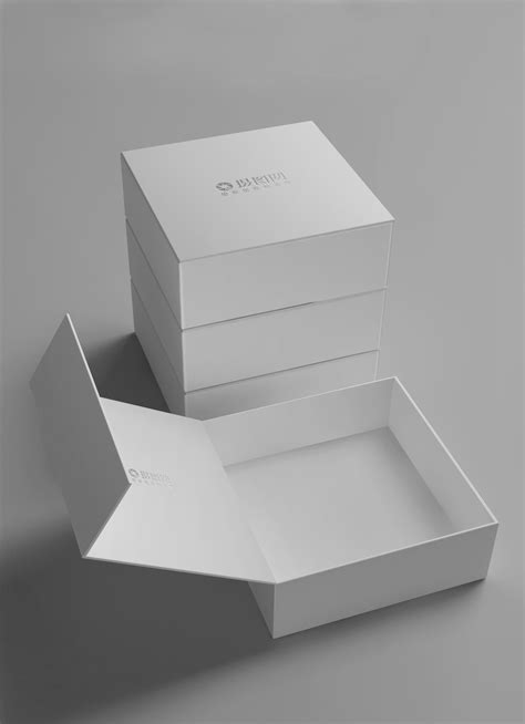 white gift box packaging mockup template imagepicture